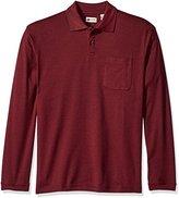 Haggar Men's Long Sleeve Minibox Knit Polo