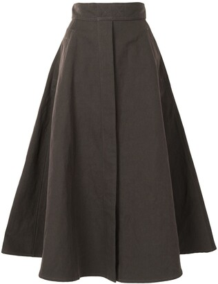 Lemaire High-Waisted Flared Midi Skirt