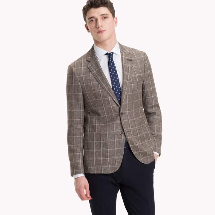 Tommy Hilfiger Wool And Linen Slim Fit Blazer