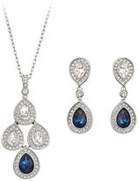 Swarovski Sensation Montana Crystal Pendant & Earrings Set