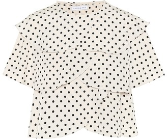 REJINA PYO Jude flounced polka-dot top