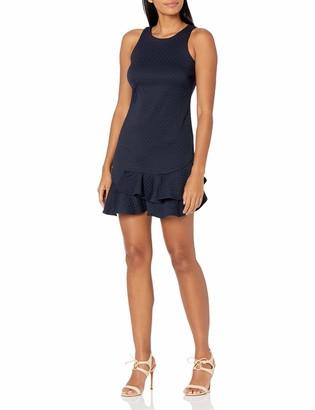 Eliza J Women's Petite Sleeveless Dress with Ruffle Hem