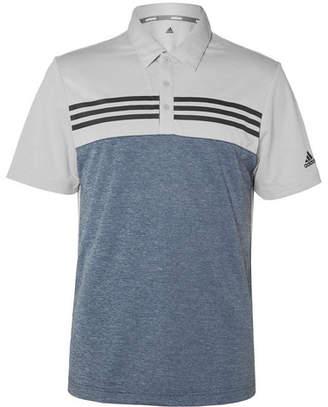 adidas Heather Colour-Block Tech-Jersey Polo Shirt