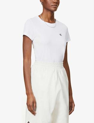 Calvin Klein Core logo-embroidered cotton-jersey T-shirt