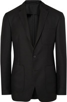 Burberry Black Slim-Fit Mohair and Wool-Blend Hopsack Blazer