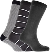 Lacoste 3 Pack Socks Grey