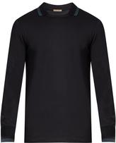 Bottega Veneta Long-sleeved contrast-panel polo shirt