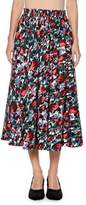Marni Calla Floral-Print Ankle-Length Cotton Poplin Skirt