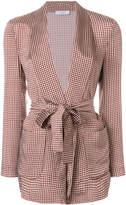 Peserico tie waist robe jacket