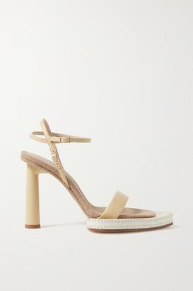 Jacquemus Novio Leather Sandals - Pastel yellow