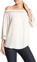 Jolt Crochet Lace Knit Off-the-Shoulder Blouse
