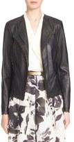 St. John Women's Laser Cut Luxe Nappa Leather Jacket