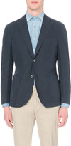 SLOWEAR Single-breasted linen and cotton-blend blazer
