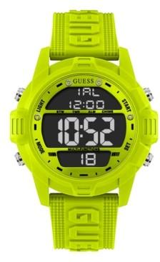 GUESS Logo Silicone Digital Watch 48mm