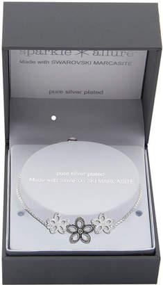 Swarovski SPARKLE ALLURE Sparkle Allure Made With Marcasite Multi Color Marcasite Pure Silver Over Brass Box Flower Bolo Bracelet