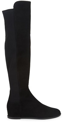 Stuart Weitzman Mainline Hidden Wedge Knee-High Boots