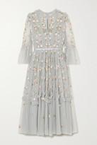Needle & Thread Wallflower Ruffled Embellished Embroidered Tulle Dress