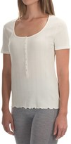 Calida Excelsior Top - Stretch Cotton, Short Sleeve (For Women)