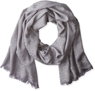 Calvin Klein womens Pashmina Scarf - grey - One Size