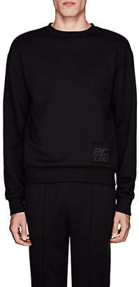 Prada Men's Taped-Stripe Cotton Sweatshirt - Black