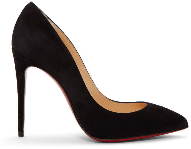 Christian Louboutin Black Suede Pigalle Follies Heels