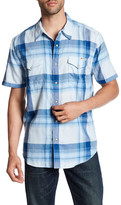 Lucky Brand Plaid Short Sleeve Regular Fit Shirt