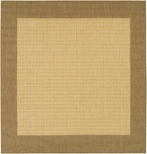 Couristan Recife Checkered Field Rug In Natural-Cocoa - 7 Foot 6 Inch Square