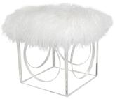 Le-Coterie Curly Fur Henri Ottoman