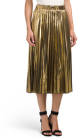 Juniors Made In USA Metallic Foil Skirt