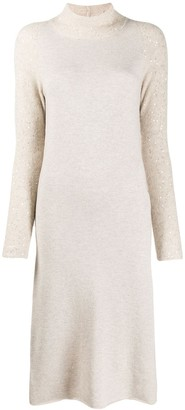Fabiana Filippi Sequin-Embellished Long Knitted Dress