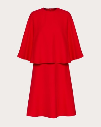 Valentino Cady Couture Dress Women Red Silk 100% 38