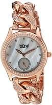 Burgi Women's Quartz Stainless Steel Casual Watch