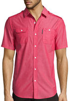 Ecko Unlimited Unltd. Short-Sleeve Solid City Woven Button-Front Shirt