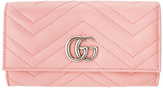 Gucci Pink GG Marmont 2.0 Wallet