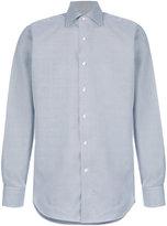 Canali houndstooth print shirt
