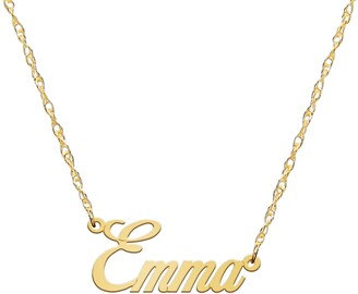 Jane Basch Designs Personalized Nameplate Necklace