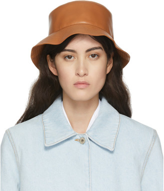Loewe Tan Leather Fisherman Bucket Hat