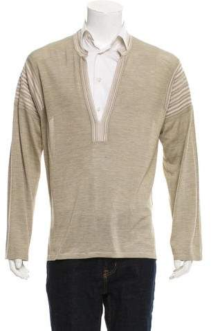 Gucci 2004 Silk V-Neck Sweater