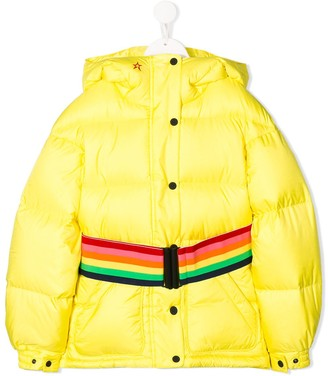Perfect Moment Kids Rainbow Trim Puffer Jacket