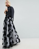 Asos Flocked Spot Tulle Maxi Skirt