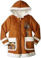 Billieblush Faux Shearling Coat (Toddler/Kid) - Brown - 5 Years