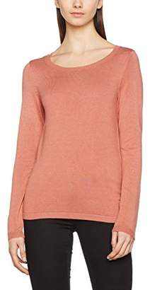 Vero Moda Women's 10171164 Regular Fit Crew Neck Long Sleeve Jumper - Pink - UK