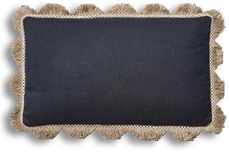 One Kings Lane Katerini 12x20 Lumbar Pillow - Indigo