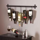 Southern Enterprises Catheryn Wall Mount 5-Bottle Wine Rack in Black