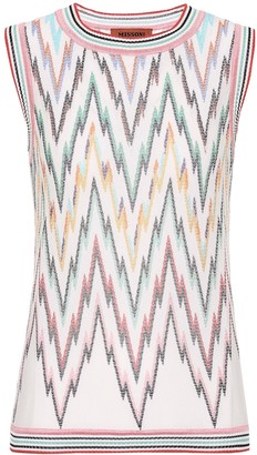 Missoni Chevron-knit cotton-blend sweater