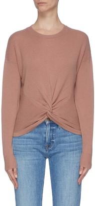 Frame Twist front rib knit panel sweater