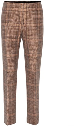 Dries Van Noten Plaid cotton-blend trousers