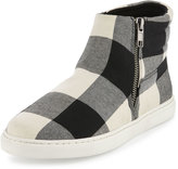 Splendid Sarasota Plaid Flannel Sneaker, Black