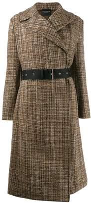 Cavallini Erika belted tweed coat