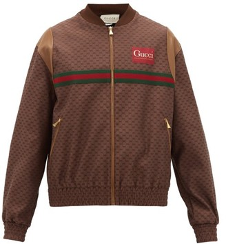 Gucci GG-jacquard Canvas Bomber Jacket - Brown